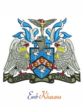 Raf college cranwell crest embroidery design