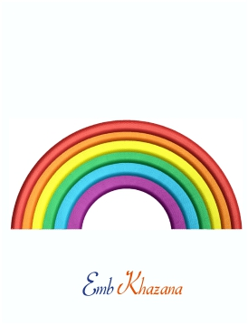 Rainbow Machine Embroidery Design