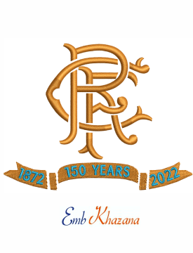 Rangers FC 150 Years Embroidery design
