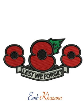Red Poppy Lest We Forget