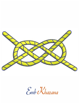 Rescue Knot Embroidery Design