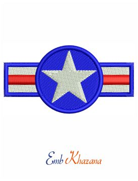 Retro US Army USA Star Logo embroidery design