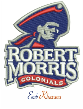 Robert Morris Colonials embroidery design