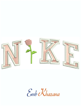 Nike Rose Logo Machine Embroidery Design