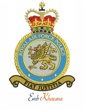 Royal Air Force Police embroidery design