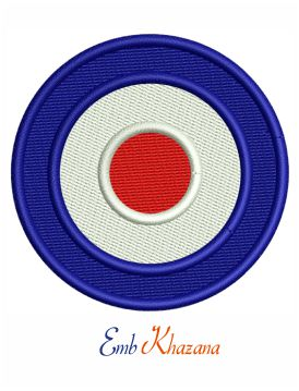 Royal Air Force roundels embroidery design