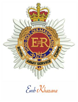 Royal Army service corps badge embroidery design