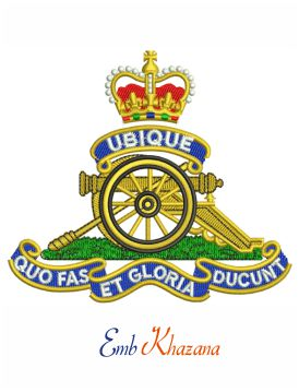Royal Artillery badge embroidery design