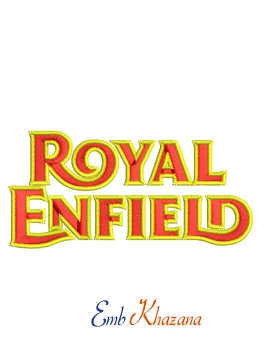 Royal Enfield Embroidery Design