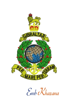 Royal Marines Crest Embroidery Design
