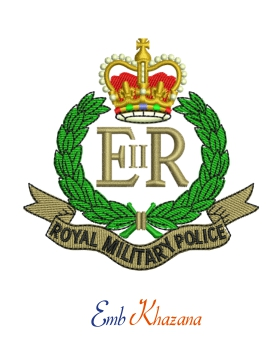 Royal Military Police Crest Embroidery Design