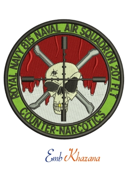 Royal Navy 815 Squadron Embroidery Design