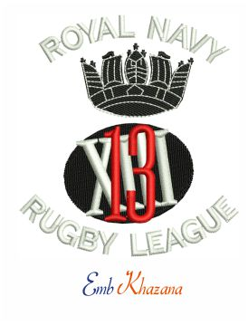 Royal Navy rugby league embroidery design