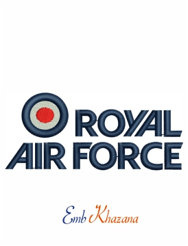 Royal Air Force Logo Embroidery Design