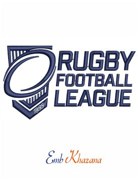 Rugby Football League Logo Embroidery Design