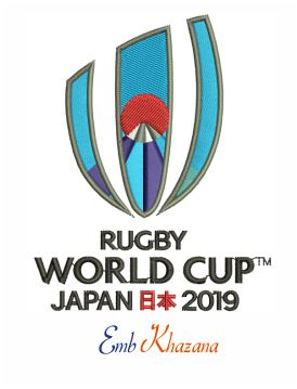 Rugby World Cup Embroidery Design
