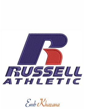 Russell Logo Embroidery Design
