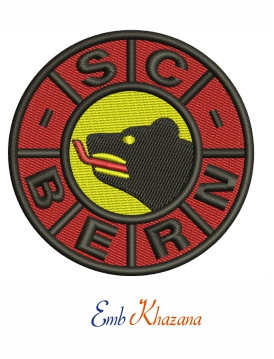 SC Bern Logo Embroidery Design