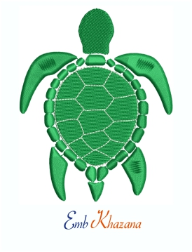 Green Sea Turtle Machine Embroidery Design