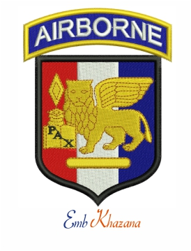 SETAF Airborne embroidery design