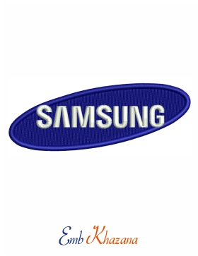 samsung logo Embroidery Design