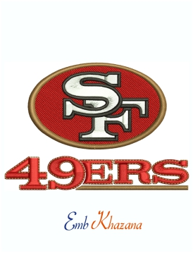 San Francisco 49ers Logo And Symbol Machine Embroidery Design