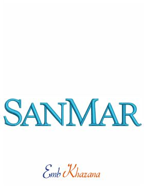 Sanmar Logo Embroidery Design