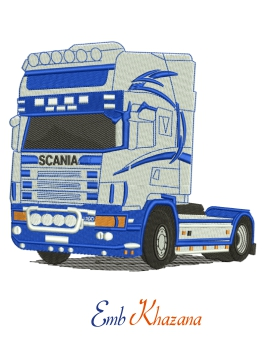 Scania truck Embroidery design