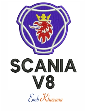 Scania V8 BACK LOGO