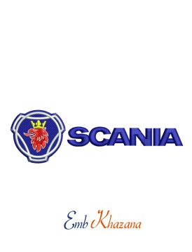 Scania Logo Embroidery Pattern