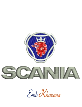 Scania Logo Embroidery Design