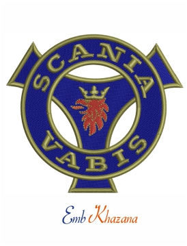 Scania vabis logo Embroidery design