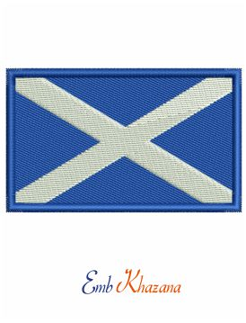 Scottish Flag embroidery design