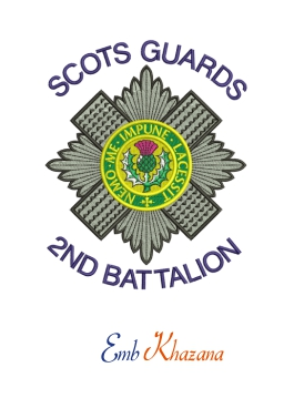 Scots Guards Badge Embroidery Design