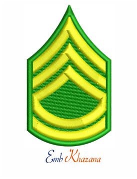 Sergeant first class insignia embroidery design