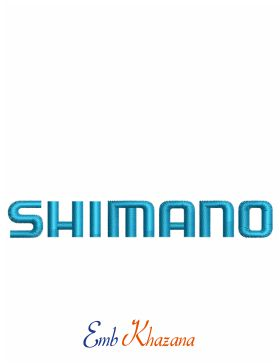 Shimano Logo Embroidery Design