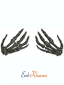 Skeleton Hands Machine Embroidery Design
