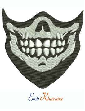 Skull Mask Machine Embroidery Design