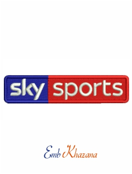 Sky sports logo Embroidery design