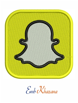 Snapchat logo embroidery design