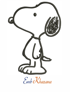 Snoopy Peanuts Embroidery Design