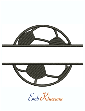 Split Soccer Ball Logo machine embroidery design