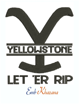 Solid Yellowstone Let Er Rip Machine Embroidery Design