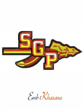 South Grand prairie logo embroidery design