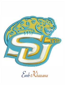 Southern Jaguars and Lady Jaguars embroidery design