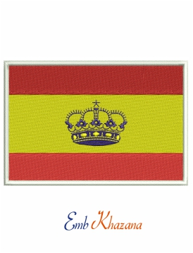 Spain Flag Embroidery Design