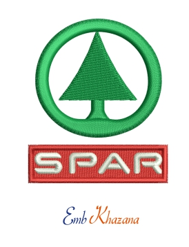 Spar Logo Embroidery Design