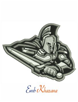 Spartan warrior embroidery design