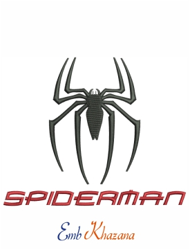 Spiderman logo embroidery design