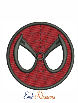 Spider Man Face Embroidery Design